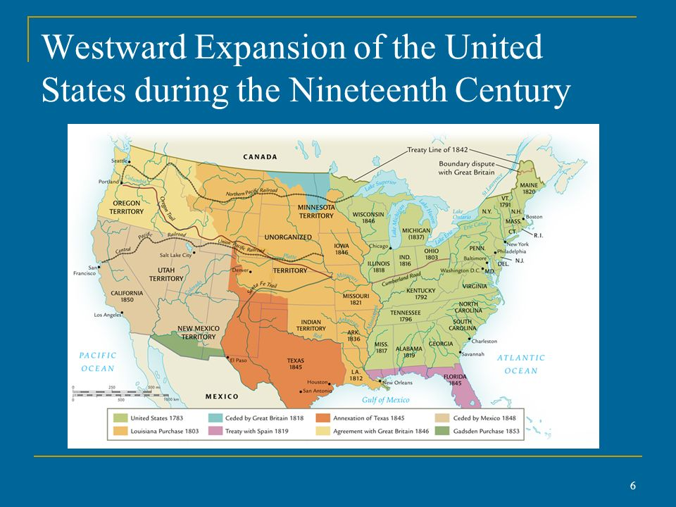 Westward Expansion Map Of The USa Land Areas And With United - Area map of us 1845