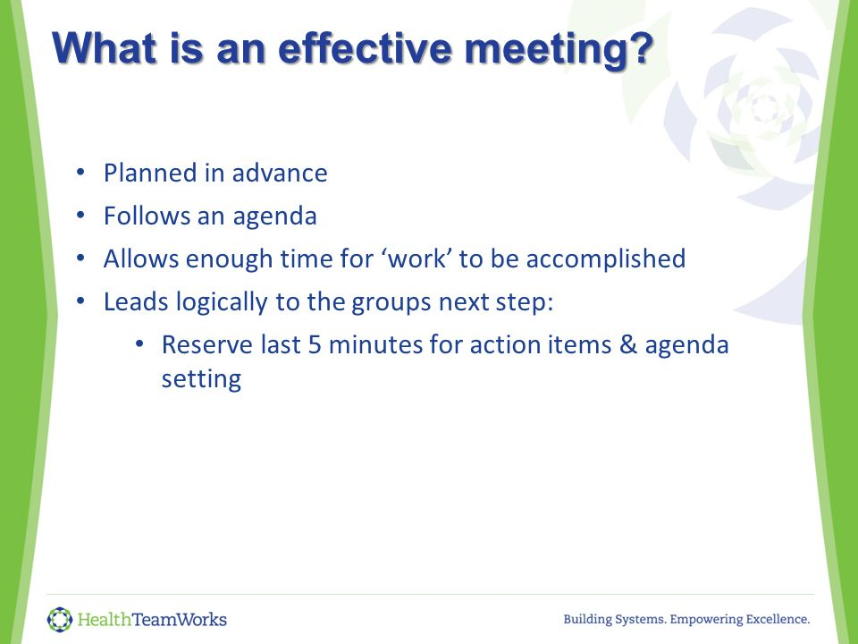 Quality Improvement Teams: The Magic Of Effective Meetings Quality