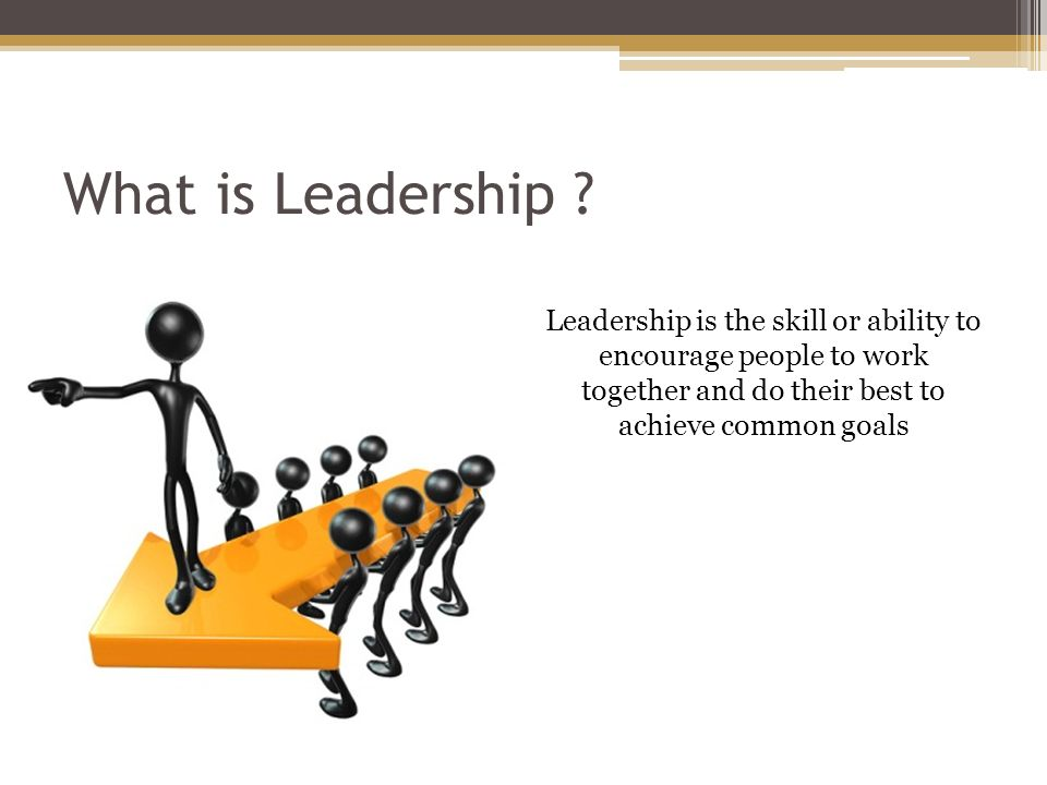 Common Definitions Leads or Guides Others Is in Charge or in command of others