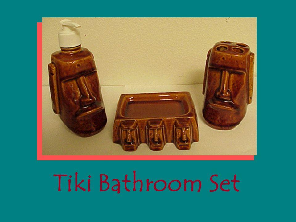 14 Tiki Bathroom Set Polynesia Ancient Tikis Many Islands Hawaii To