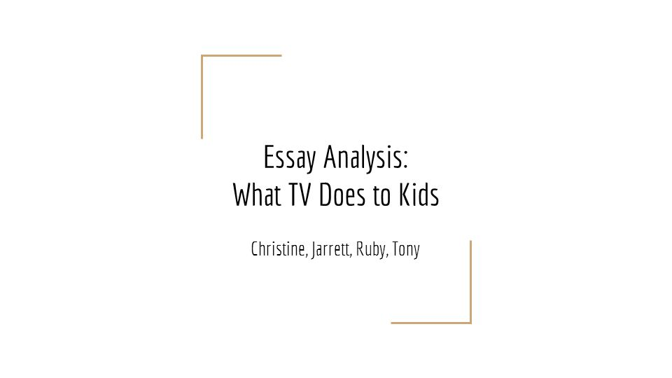 essay about television show Classification essay professor s television classification tv shows can range from cartoons to reality and fiction, which makes a huge gap in between the three genres although all of the television shows i chose are on premium channels, they all differ in every way.