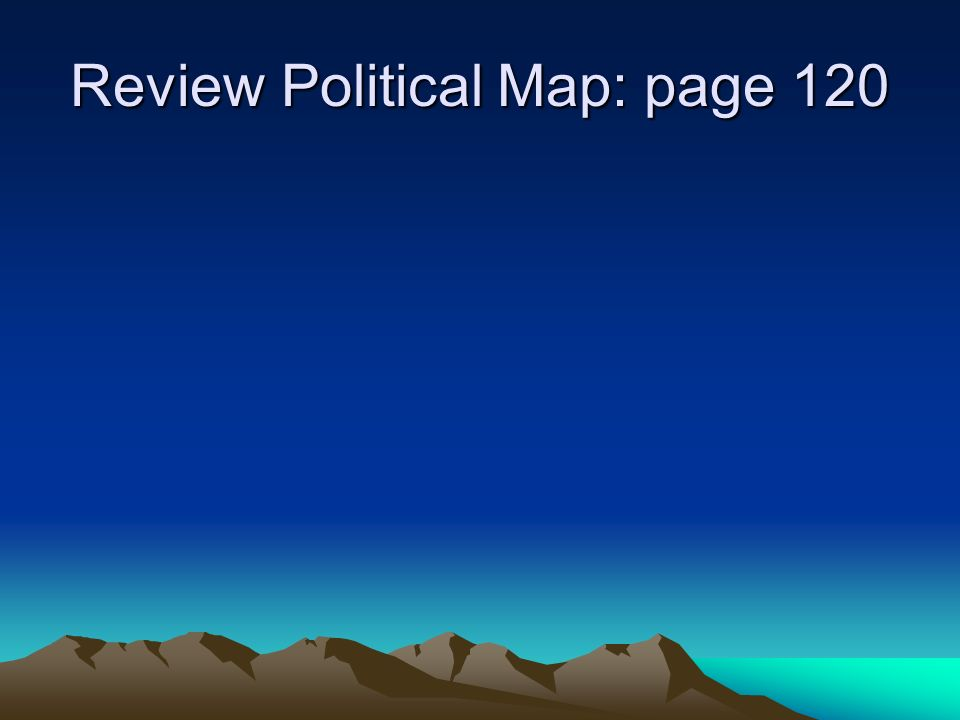 Physical Geography Of The Us And Canada Chapter 5 Section One And Two 2 Review Political Map Page 120
