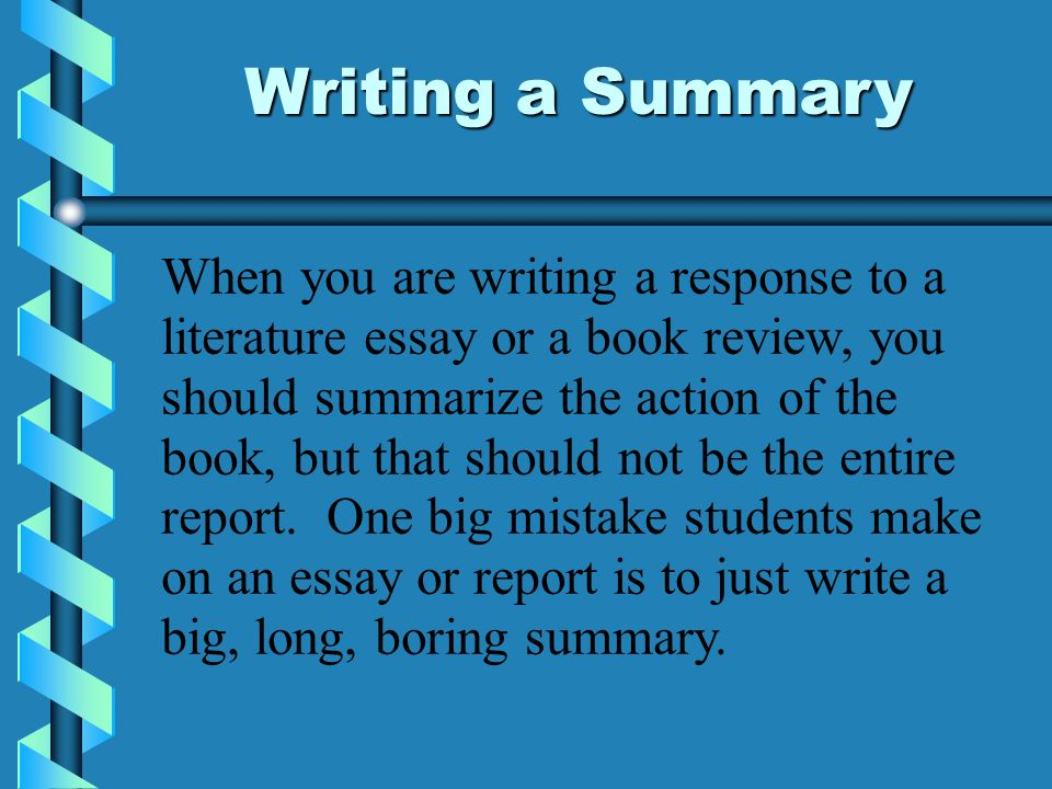 write book summary essay