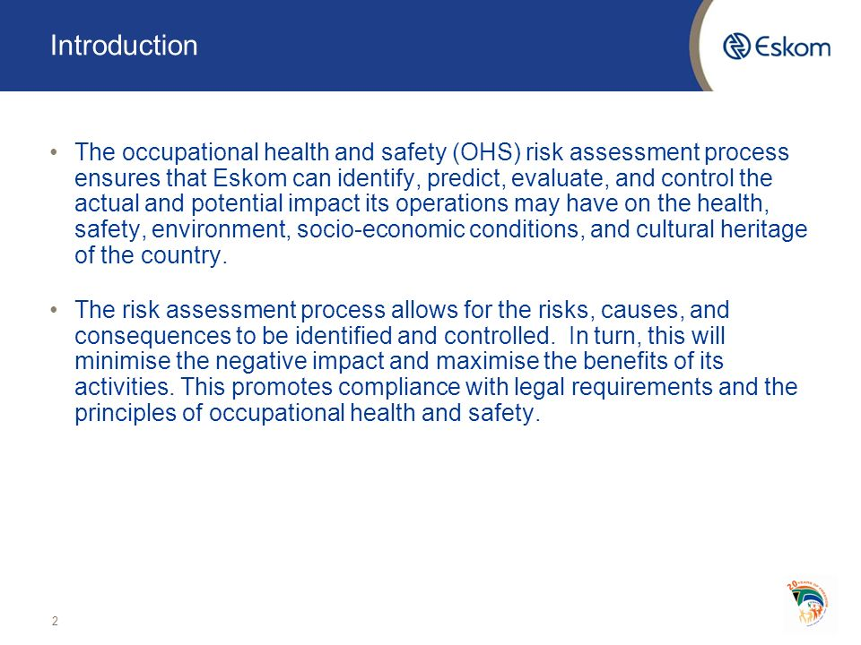 an introduction to the ohs occupational health and safety Home / courses / os1050 – occupational health and safety fundamentals 2 students overview curriculum instructor the occupational health and safety fundamentals course is informative safety course offering a clear picture of the responsibilities and liabilities for workplace safety [.