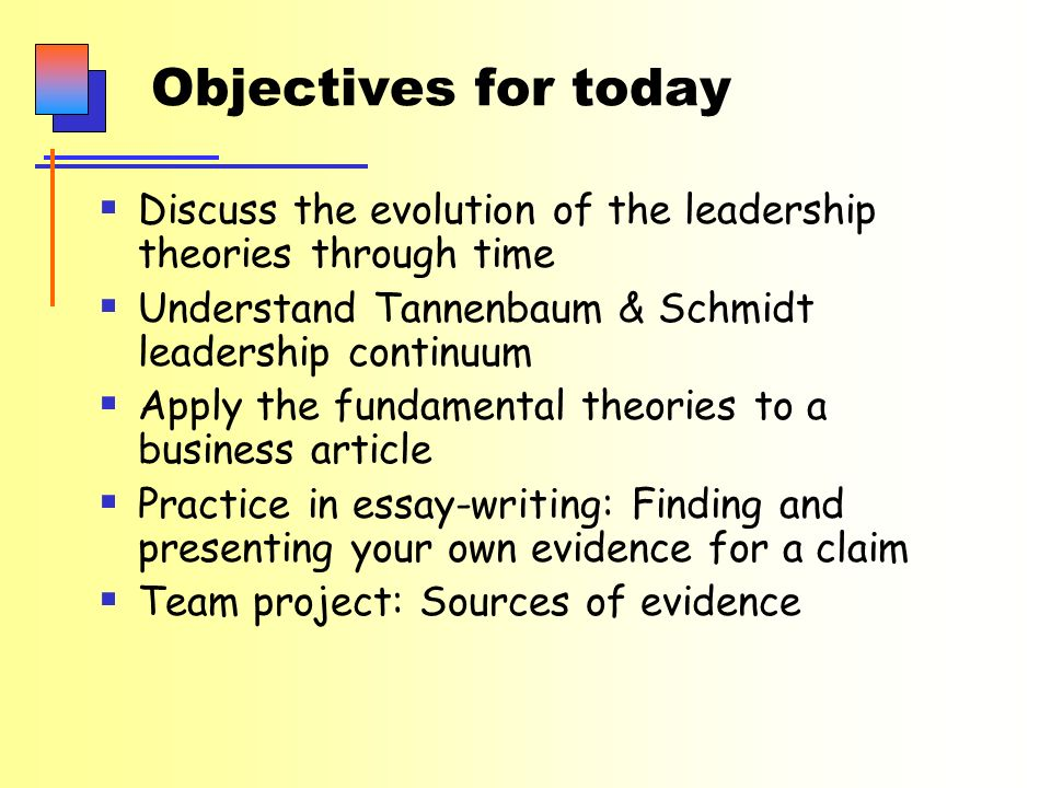 comm contemporary business thinking class leadership ppt  2 objectives for today  discuss the evolution of the leadership theories