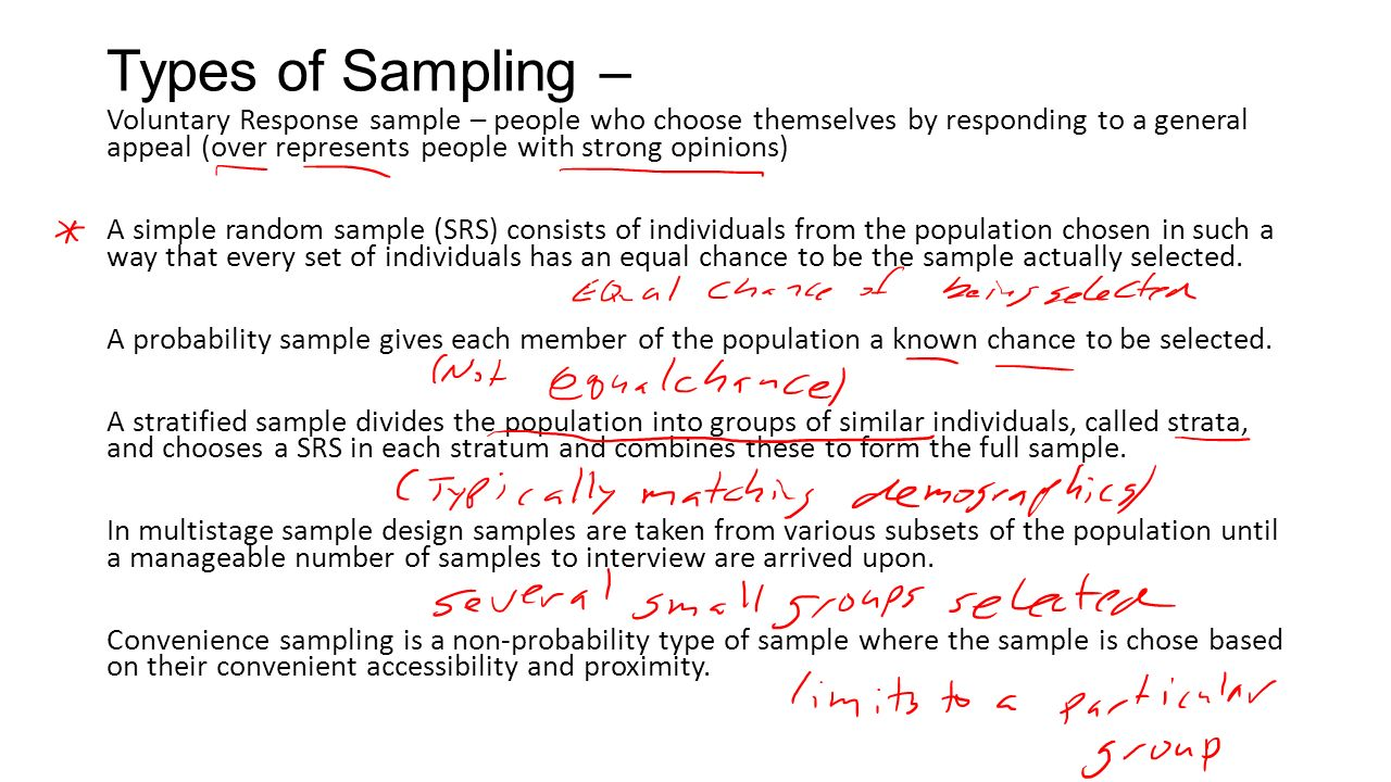 MATH Section 6.1. Sampling: Terms: Population – each element (or ...