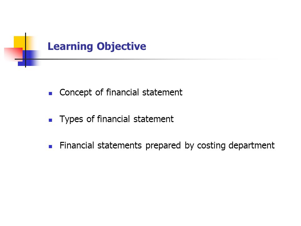Cost & Management Accounting Financial Statements Lecture-3 Mian