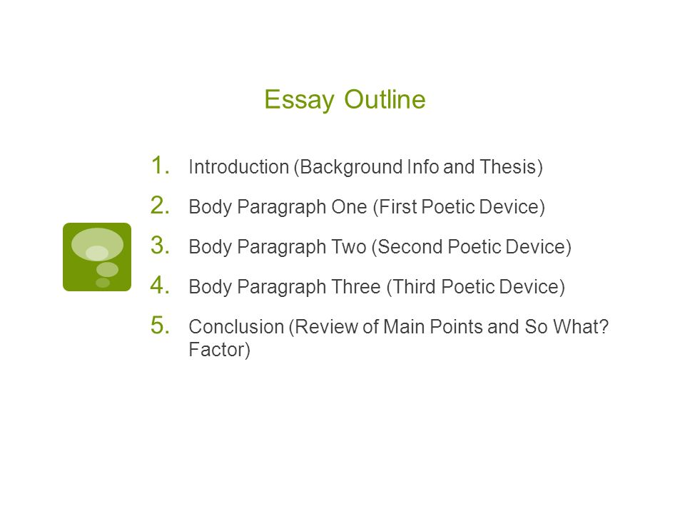Poverty Essay Outline