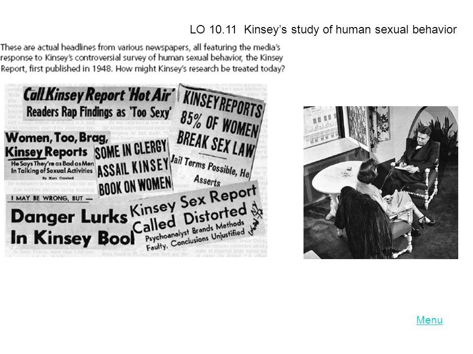 LO 10.11 Kinsey's study of human sexual behavior