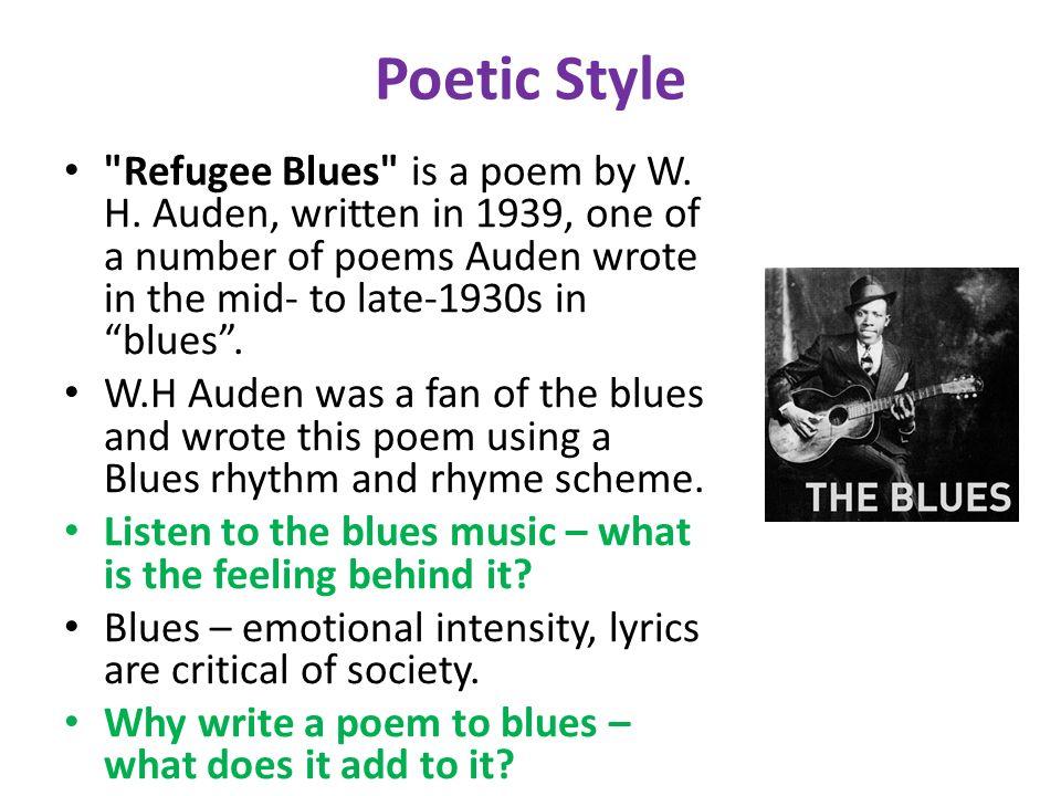 refugee blues by w h auden
