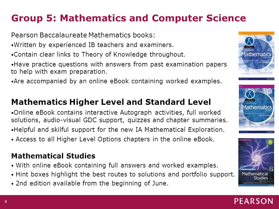Pearson baccalaureate supporting every learner across the ib 10 9 group 5 mathematics and computer science pearson fandeluxe Image collections