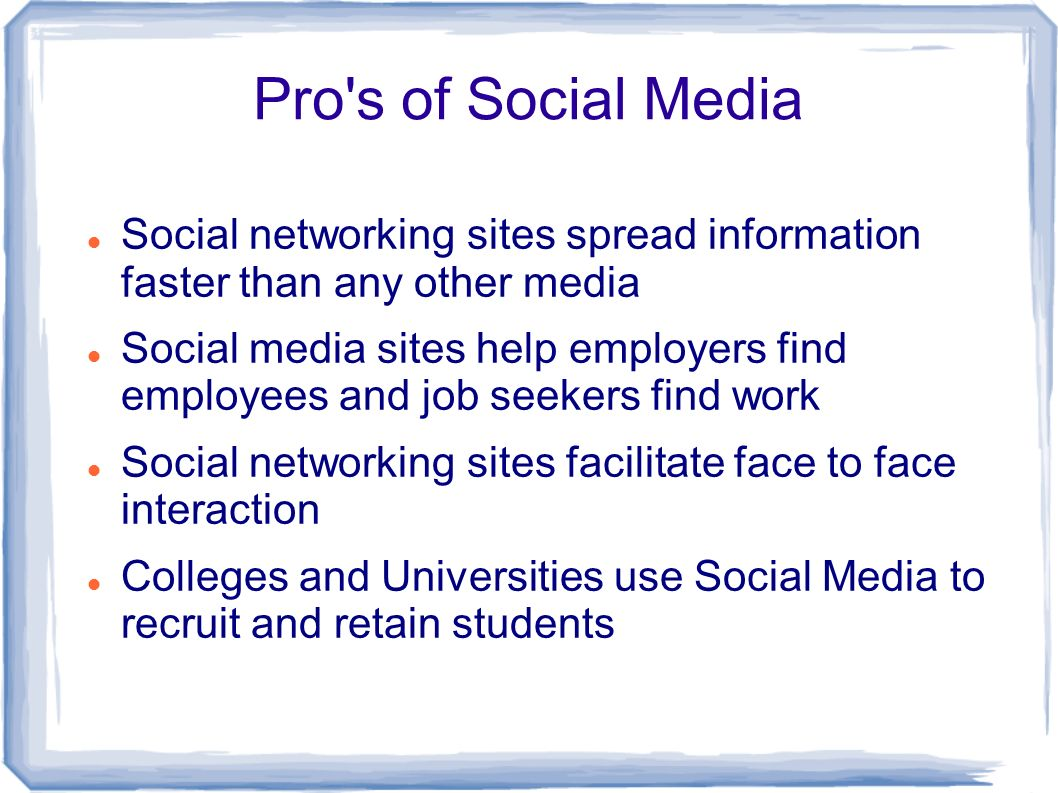 social networking sites have reduced face to face interactions