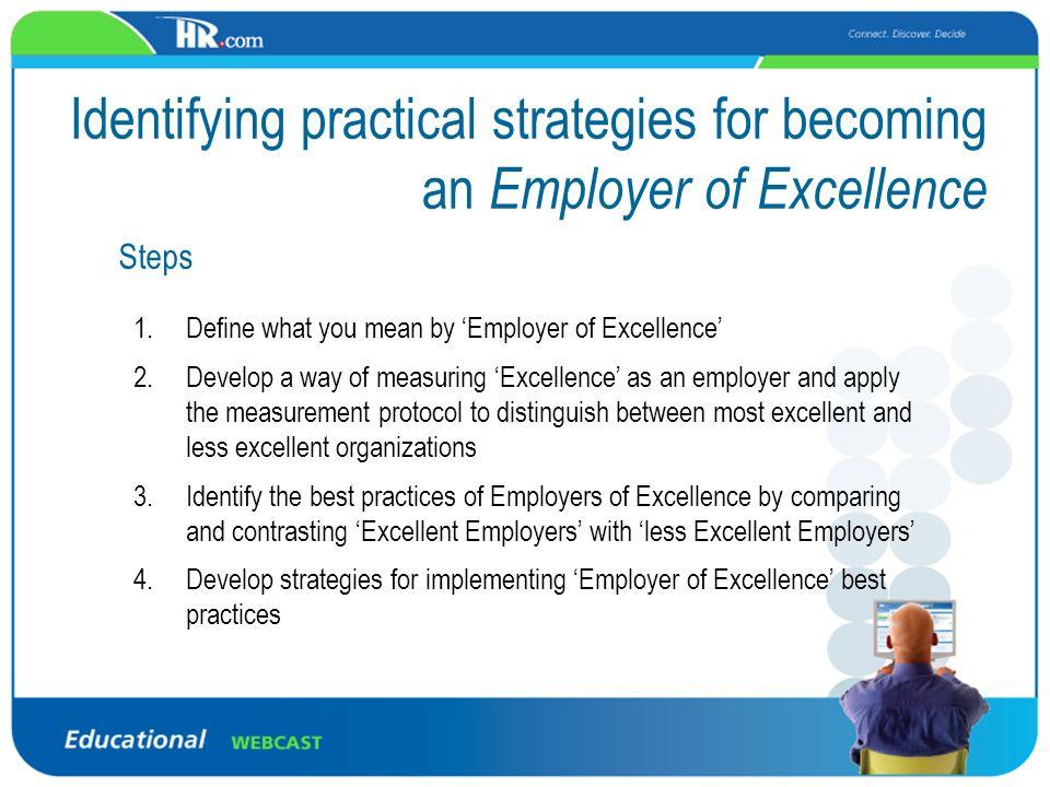 6 Identifying ...  Define Excellent