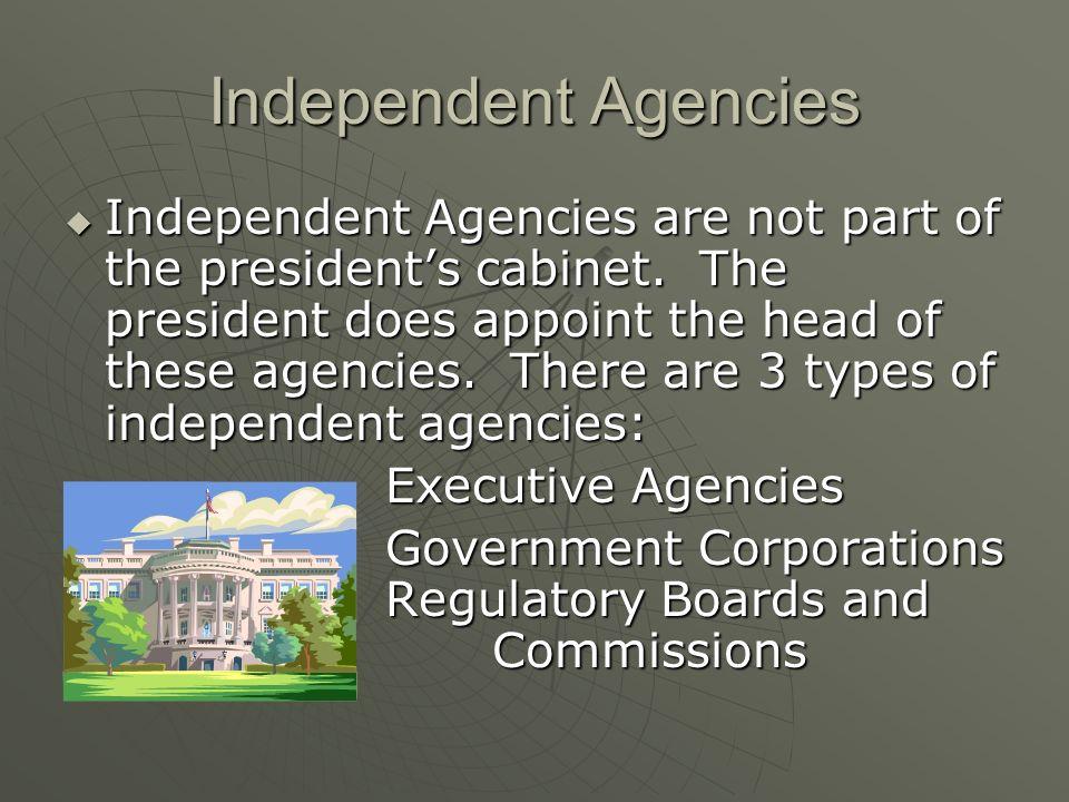 The Federal Bureaucracy. Federal Bureaucracy  Below the cabinet ...