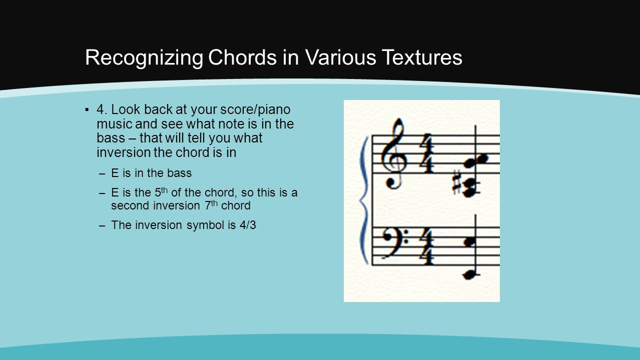 Before we begin i will pass back your quiz and a couple recognizing chords in various textures 4 hexwebz Images