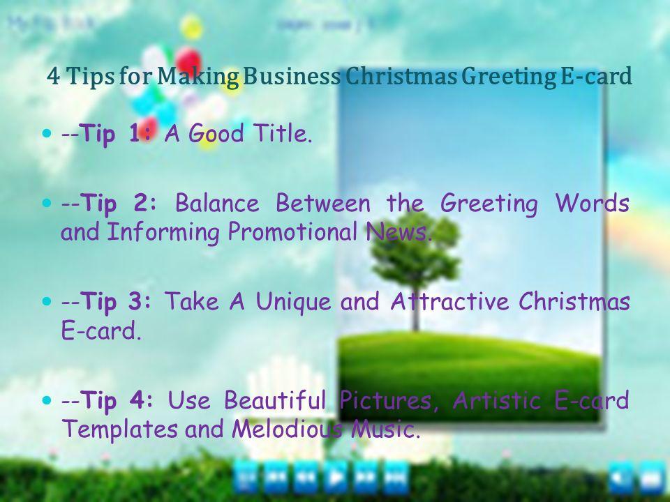 How to Make Impressive Christmas E-cards?Christmas. - ppt download