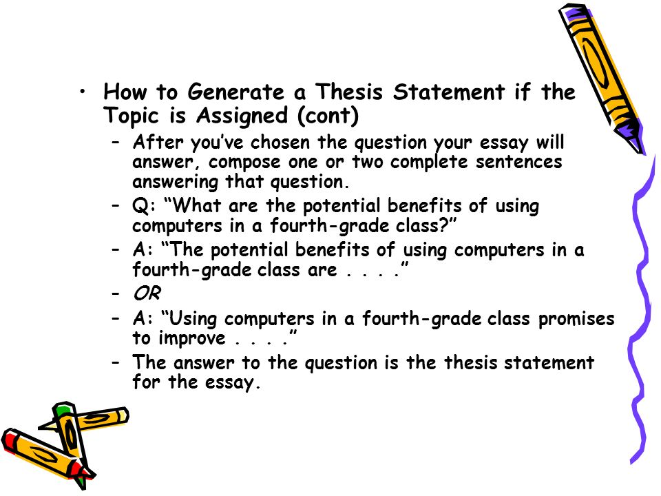what is a thesis generator