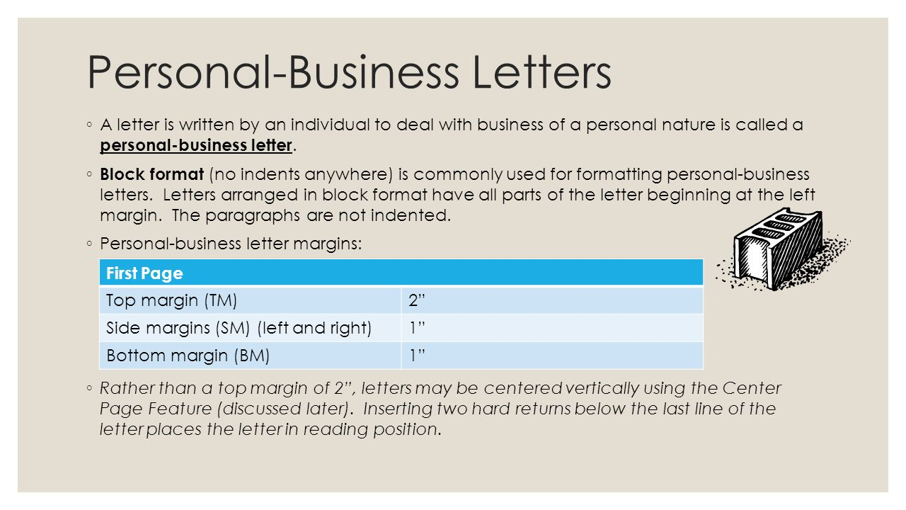 Learn To Format Personal Business Letters Unit 9 Lessons Ppt Download