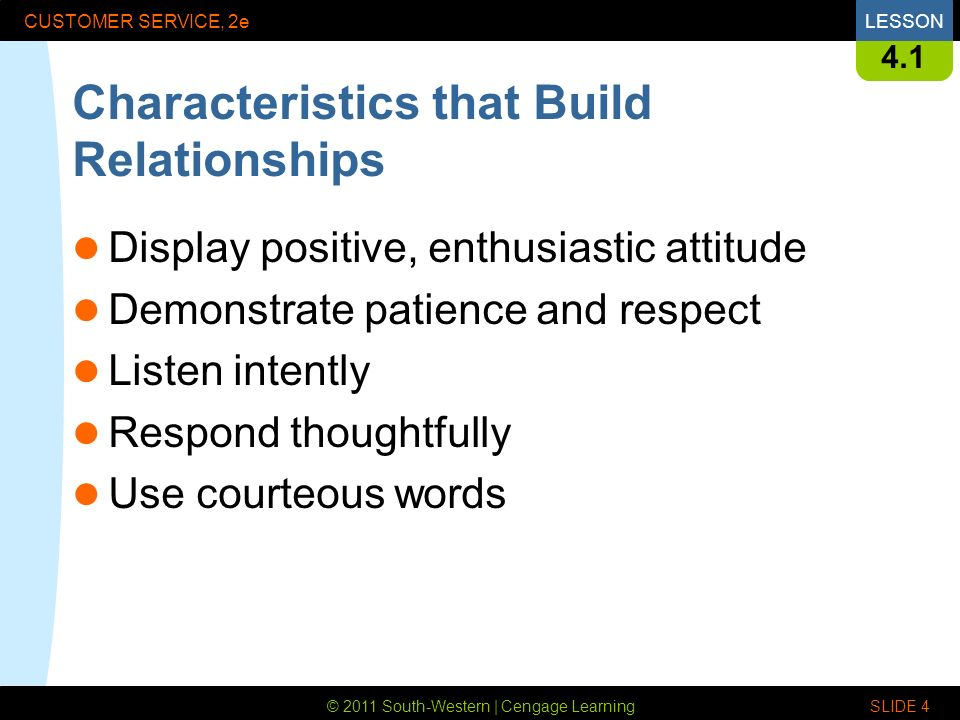 words to describe good customer service