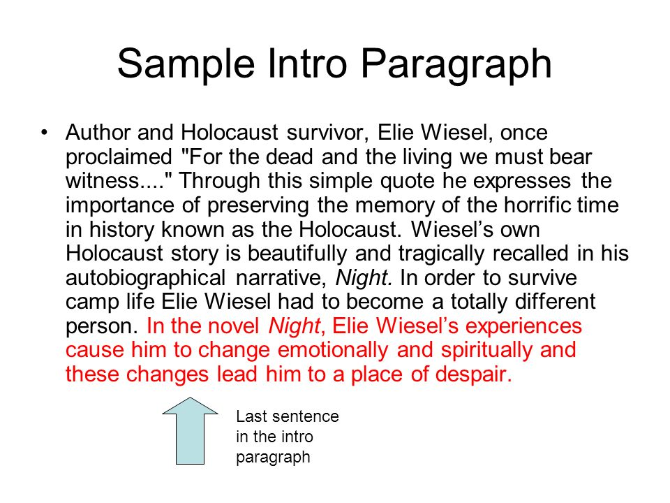 night by elie wiesel essay introduction