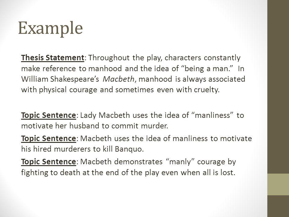 macbeth thesis statements