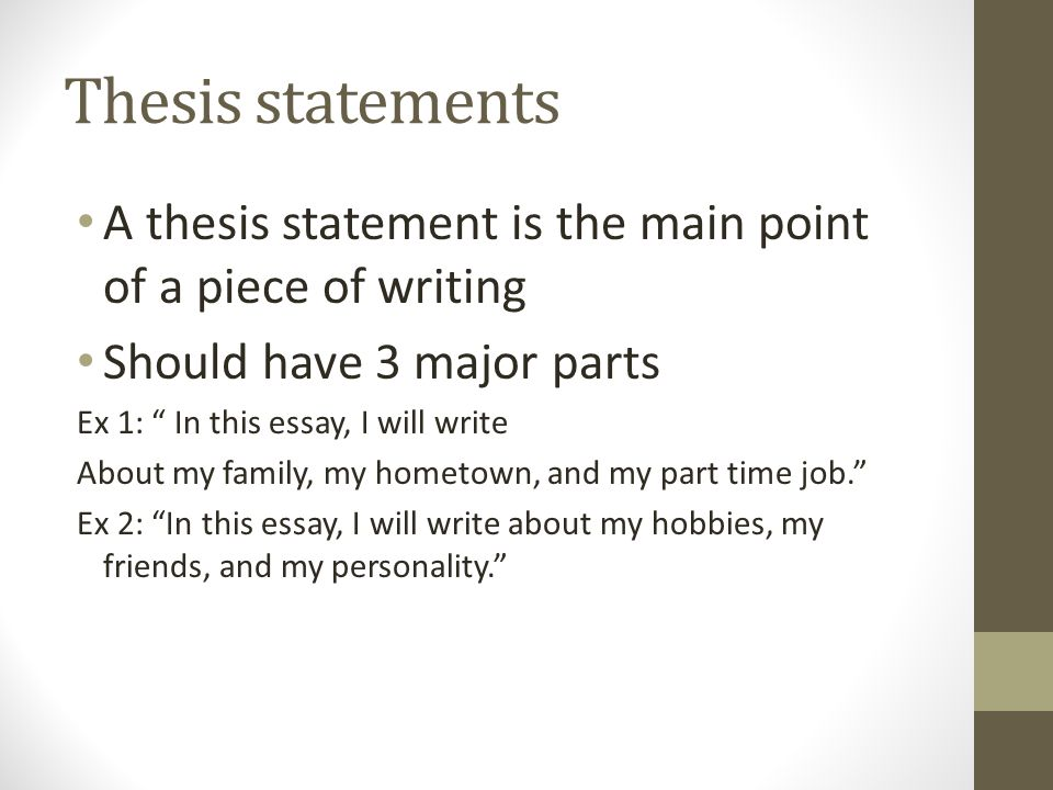 final examination review english writing spring ppt  6 thesis statements