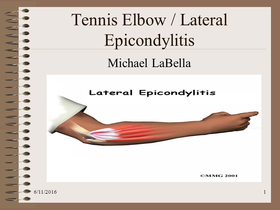 Lateral Epicondylitis Tennis Elbowppt