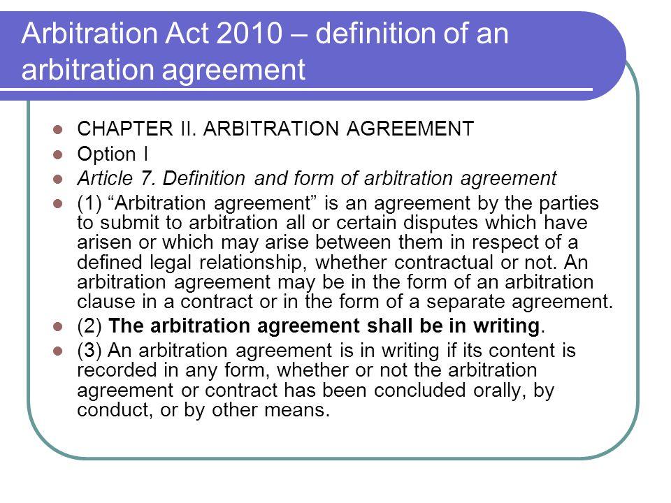 Lecture 3 arbitration agreements arbitration agreements freedom 5 arbitration platinumwayz
