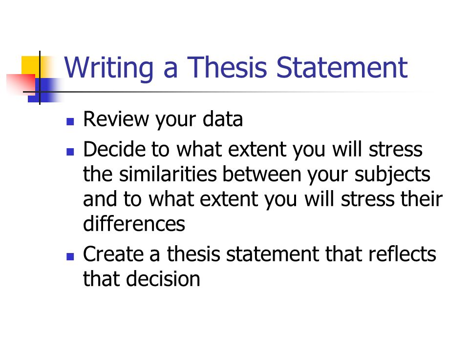writing good thesis statement essay How to write a good essay in a short amount of time an example of a plan for a one-day essay writing project might develop your argument or thesis statement.