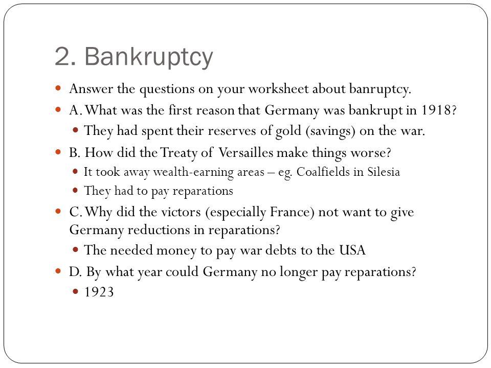 Germany IGCSE Paper 1 Economic Problems ppt download – Bankruptcy Worksheet