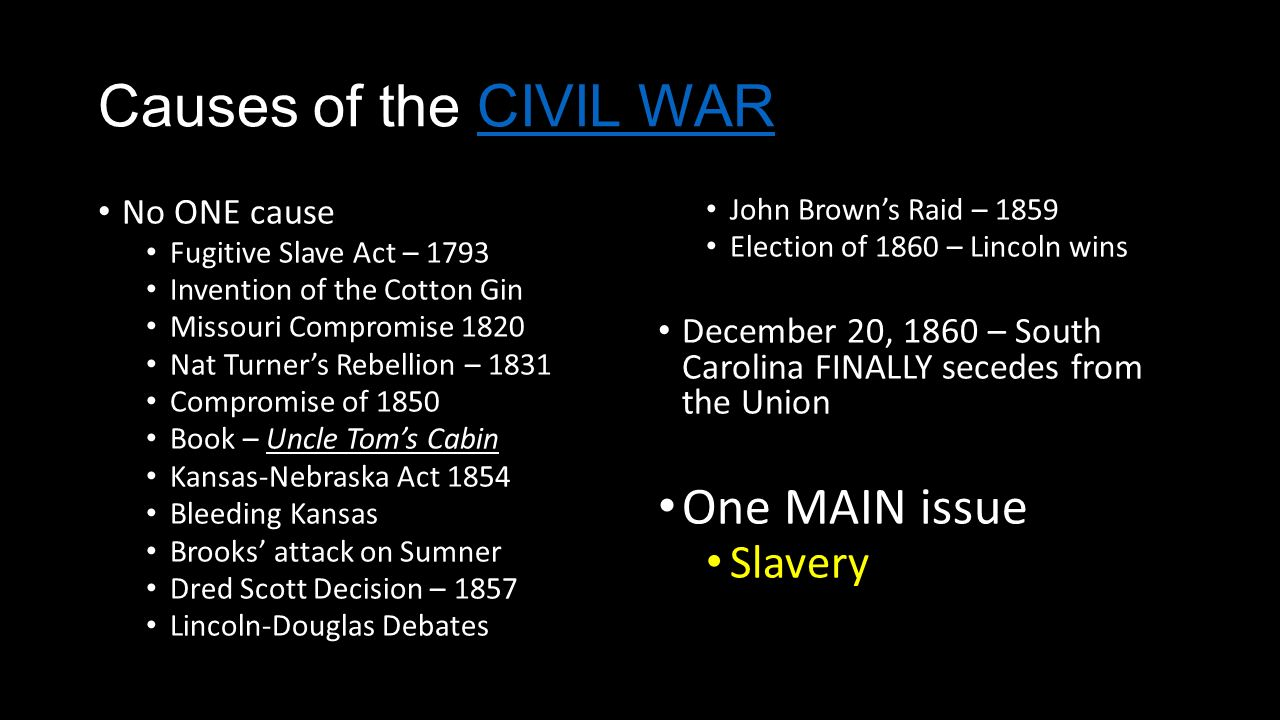 how did the fugitive slave act lead to the civil war The american civil war planters from bourbon and boone counties in northern kentucky led raids and barry r weingast the fugitive slave act of.