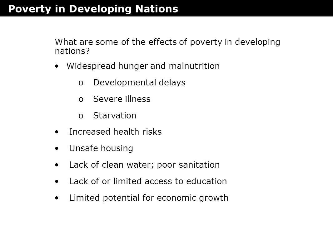 poverty in the developing economies essay To review the literature regarding poverty and gender inequality in developing to grow their respective economies poverty in developing.