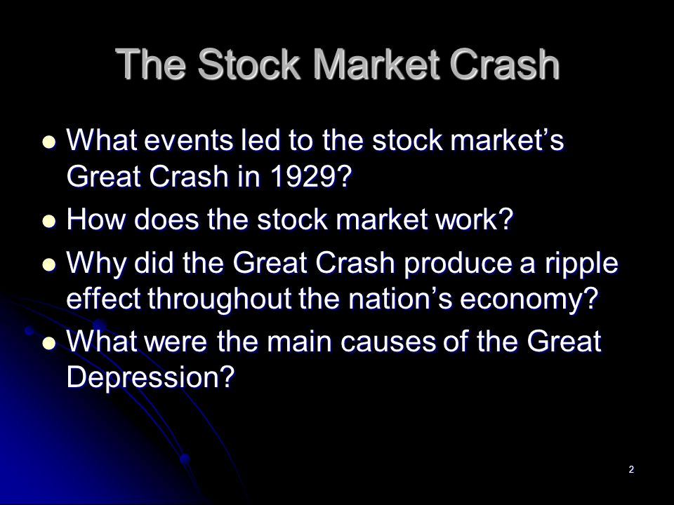 how the stock market crash of 1929 affected the united states essay Causes and effects of the 1929 stock market crash the crash in stocks in 1929 is the most famous stock market crash in united states history.