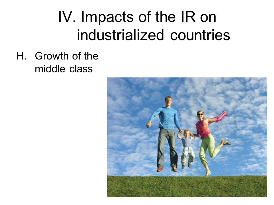 IV. Impacts of the IR on industrialized countries H.Growth of the middle class