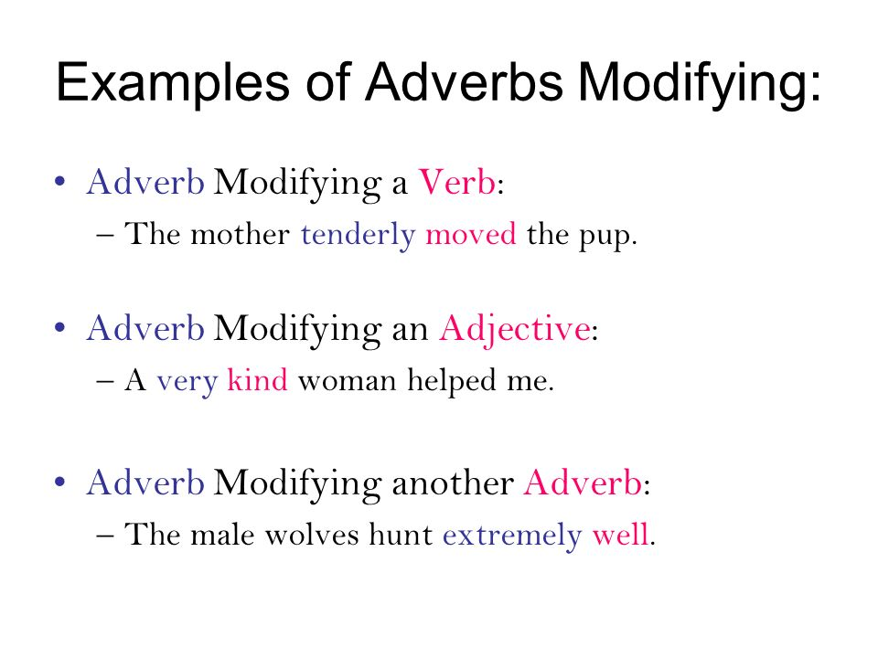 Adverb Modifying Another Adverb Examples Images Example Cover