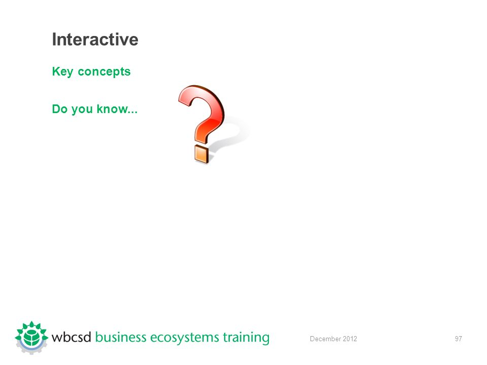 97 December 2012 Interactive Key concepts Do you know...
