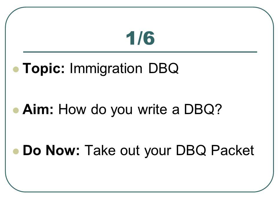 How do I, write a DBQ?