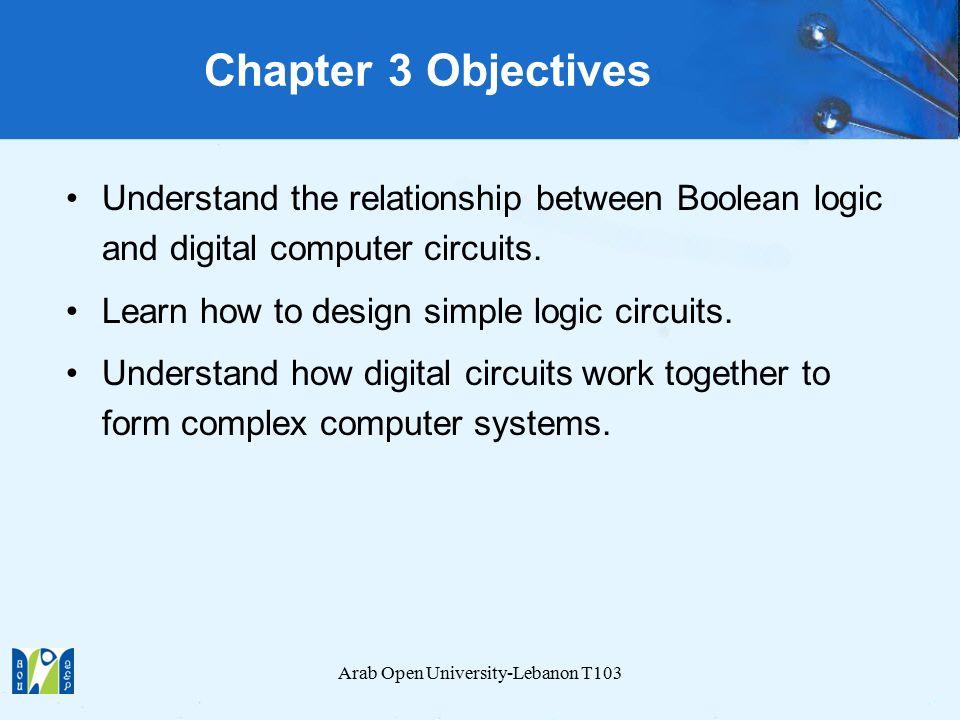 Chapter 3 Boolean Algebra and Digital Logic T103: Computer ...