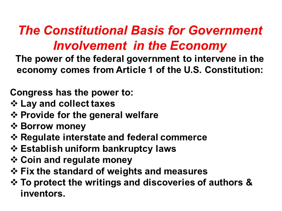 government involvement in the economy
