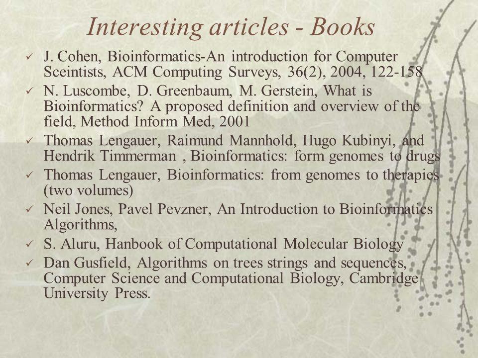 Interesting articles - Books J.