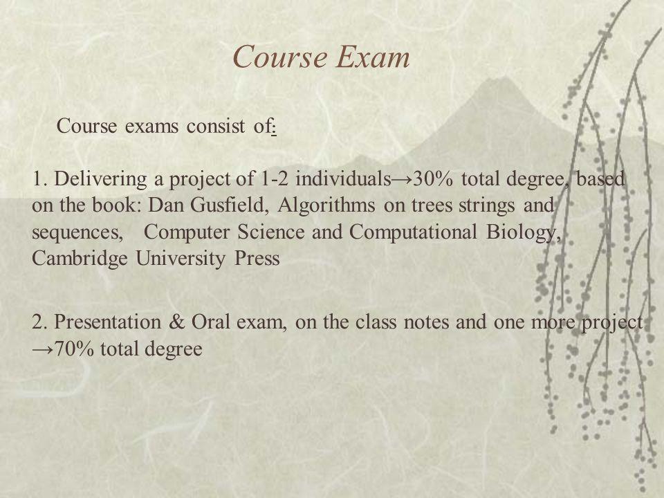 Course Exam 1.
