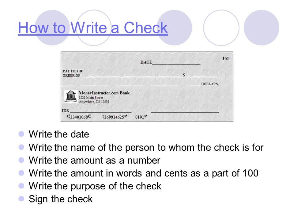 how write check