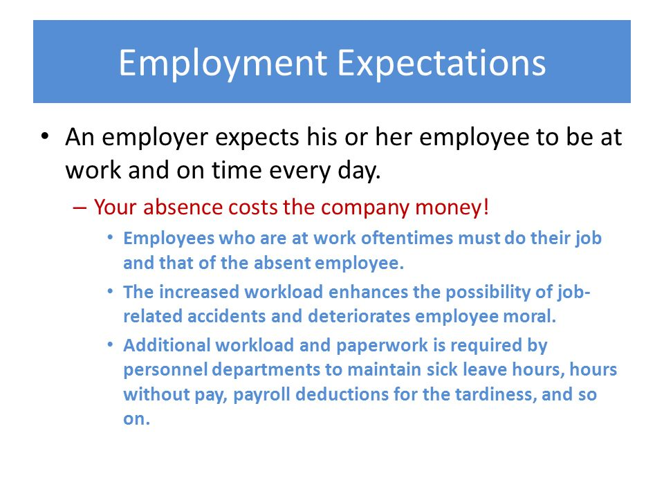 Work Attendance Expectations