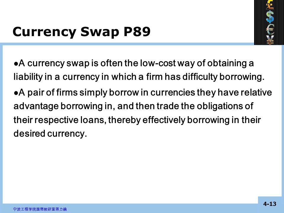 4-12 宁波工程学院国商教研室蒋力编 These agreements are frequently used by commercial banks for inter-bank trading.