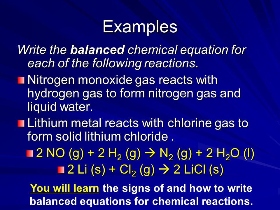 Chapter 11: Chemical Reactions Describing Chemical Reactions ...