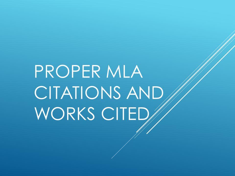 proper essay citation mla