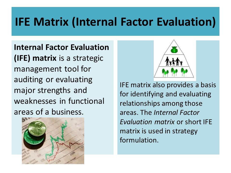an internal factor evaluation matrix for kraft foods Internal factor evaluation (ife) matrix strong partnerships (kraft, nabisco) 006 3 018 4 largest chocolate producer in north america 008 4 032 5.