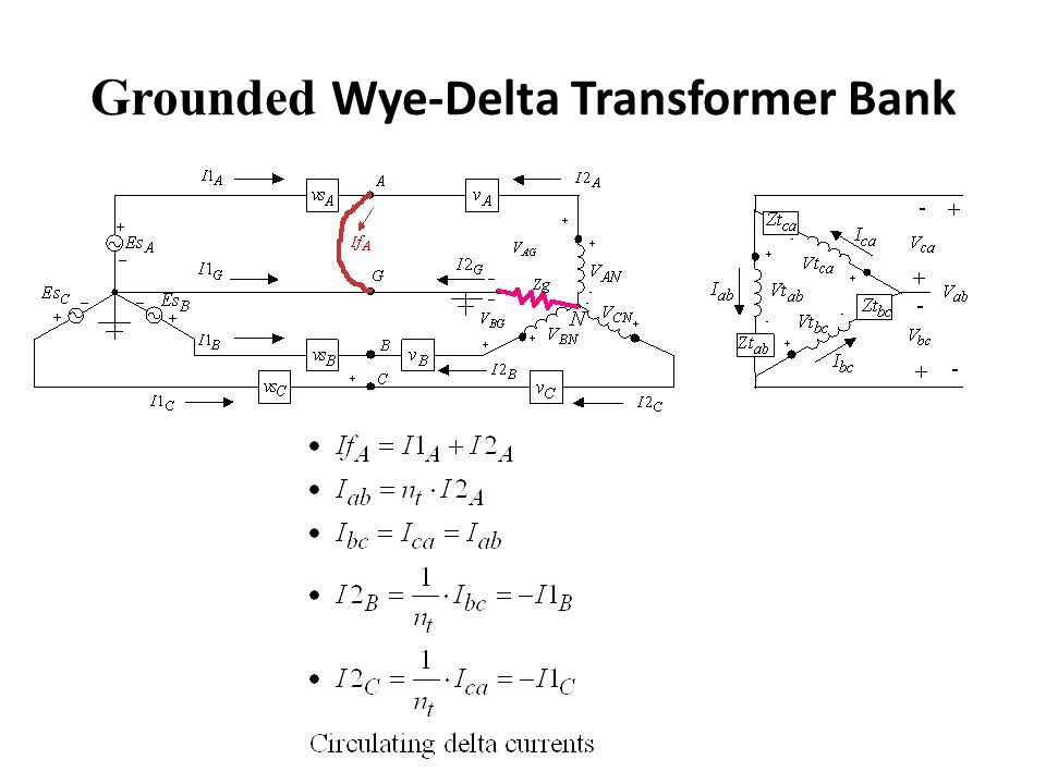 Grounded Wye-Delta Transformer Bank Backfeed Short-Circuit Currents ...