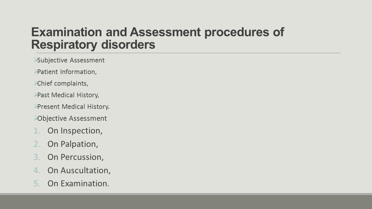 History of physical therapy - 2 Examination