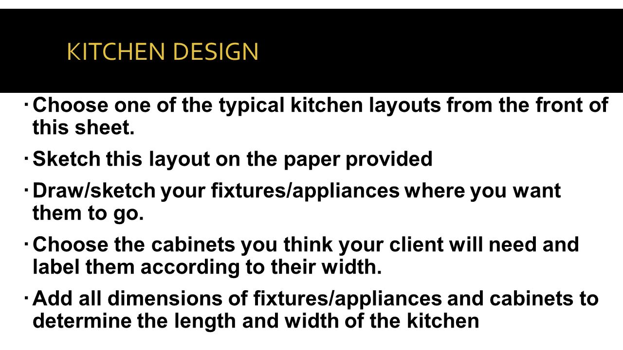 20 KITCHEN DESIGN  Choose One Of The Typical Kitchen ...